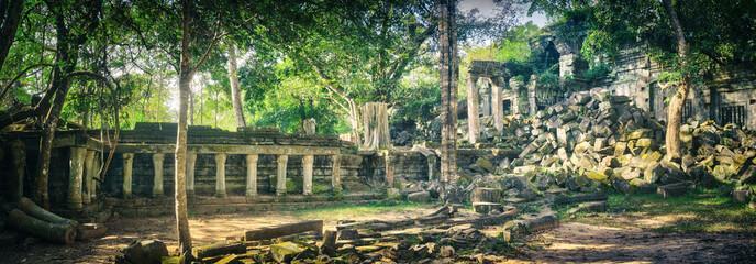 Beng Mealea or Bung Mealea temple. Siem Reap. Cambodia. Panorama