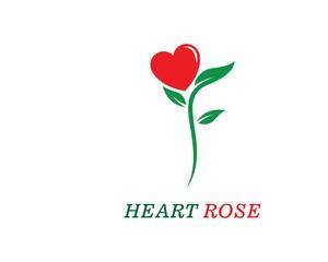 Rose flower Logo Template