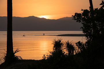 Couple Walking on Perfect Paradise Beach at Sunset - Bonbon, Romblon - Philippines