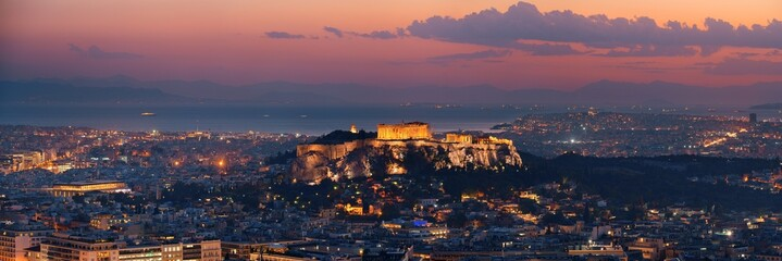 Printed kitchen splashbacks Athens Athens skyline from Mt Lykavitos panorama