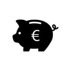 Piggy bank with euro symbol