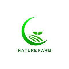 green nature icon logo design template