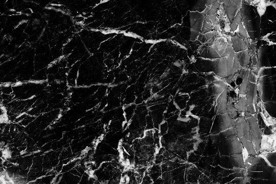 Patterned detailed structure of black and white marble pattern texture for product design. abstract dark background.