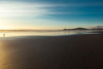 Empty beach in Oregon USA