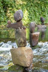 Rock sculpture on Water of Leith Edinburgh