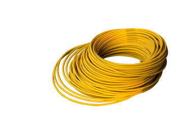 yellow cable isolated on white background