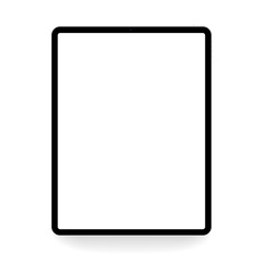 tablet; vector; black; white; mockup; isolated; design; background; up; mock; illustration; device; blank; screen; realistic; digital; business; technology; electronic; display; gadget; eps10; modern;