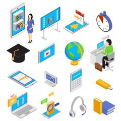 Online Education Icons Set