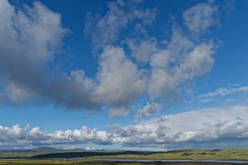 Wolken über Island