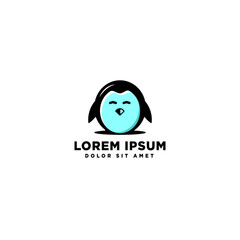 cute penguin logo template vector illustration icon element
