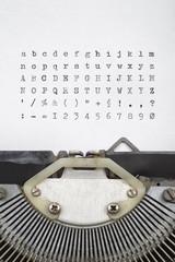 Old typewriter letters font set