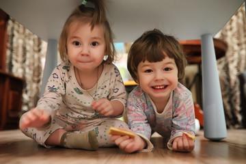 Kids on a floor