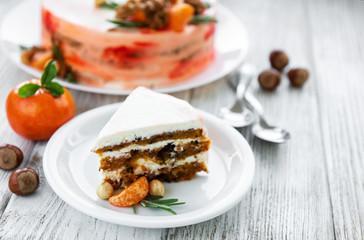Sweet carrot cake
