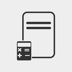 Accounting icon with calculator and notebook vector icon