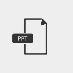 PowerPoint format file vector icon