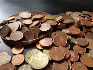 Euro coins, background