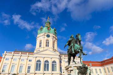 Charlottenburg Palace and Statue of Friedrich Wilhelm I, Berlin, Germany.