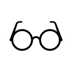 Glasses icon, sign or logo, Flat design