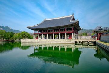 Gyeonghoeru Pavillion Royal Banquet Hall in Gyeongbokgung Palace, Seoul