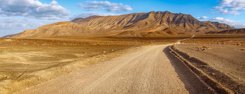 Fuerteventura volcanic landscape at golden hour