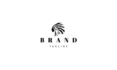 Redskins Injun indian black vector logo image