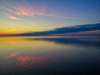 Sunset on Mobile Bay at Bayfront Park