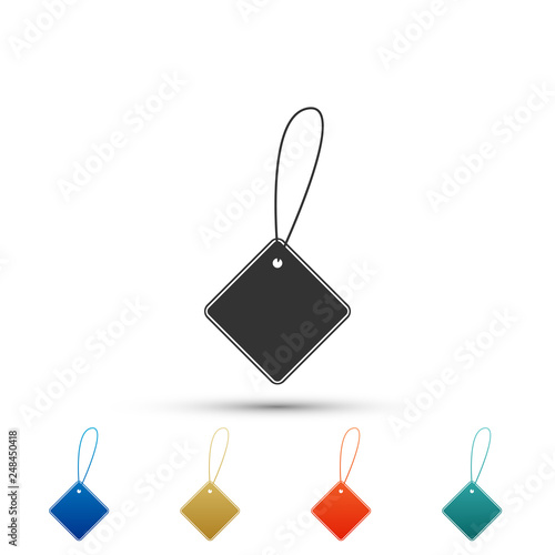 Blank Label Template Price Tag Icon Isolated On White Background