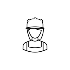 avatar builder outline icon. Signs and symbols can be used for web logo mobile app UI UX