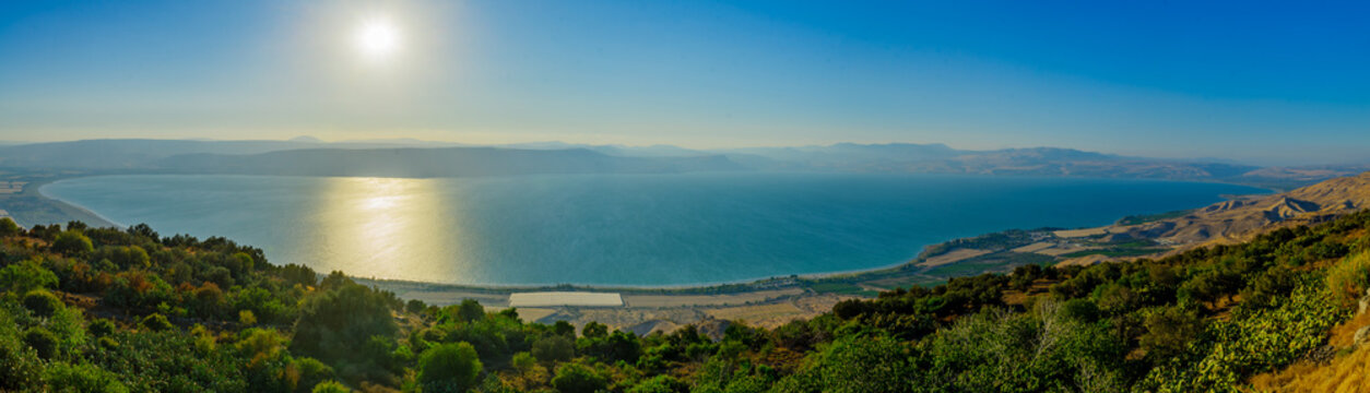 Panoramic view of the Sea of Galilee