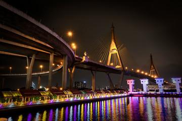 Bhumibol Bridge in Bangkok Thailand