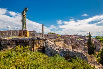 Bronze Statue Of Daedalus-Pompeii, Campania, Italy