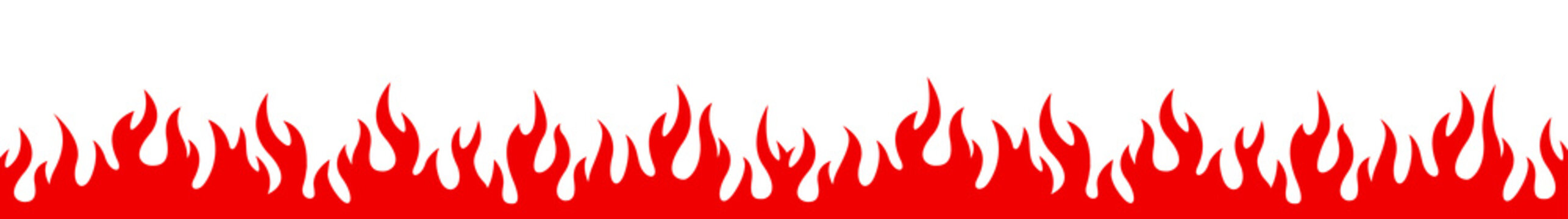 Flame on a white background. Vector illustration for design - vector