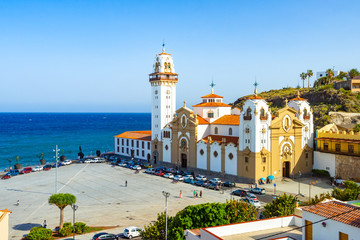 beautiful Basilica de Candelaria church in Tenerife, Canary Islands, Spain