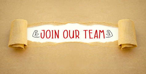 Paper work with join our team