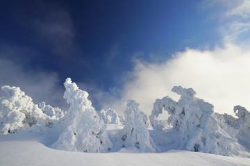 bezaubernde Winterlandschaft in den Bergen