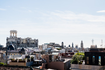Vue sur les toits de Barcelone, vue d'en haut