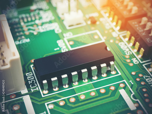 Sensational High Tech Electronic Pcb Printed Circuit Board With Microchips Wiring Digital Resources Biosshebarightsorg