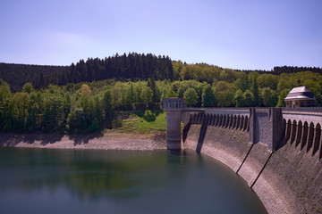 Beautiful images of the Listerstausee Dam and reservoir in Sauerland germany