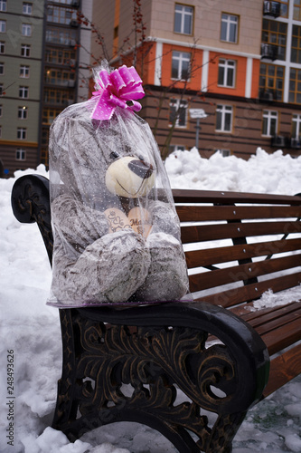 Admirable Teddy Bear With A Bow Stock Photo And Royalty Free Images Bralicious Painted Fabric Chair Ideas Braliciousco