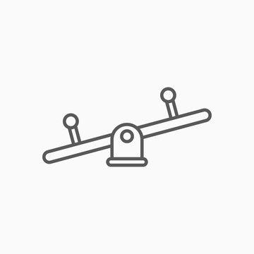 seesaw icon, balance swing vector