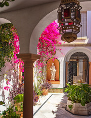 Nice patio with flowers in Cordoba, Spain