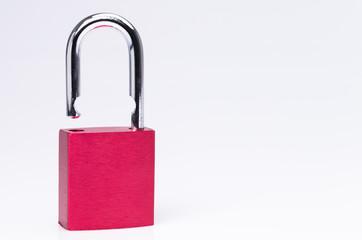 Open red padlock