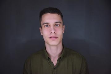 Selfie portrait of a beautiful young European