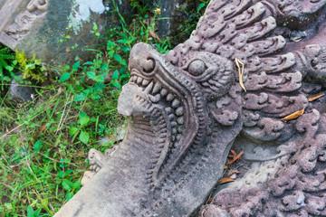 プリア・ピトゥの作りかけの石像