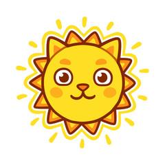 Cat face sun