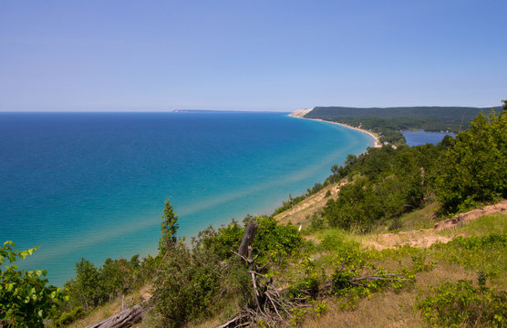 View from the Top of the Empire Bluffs, Sleeping Bear Dunes National Lakeshore, Michigan