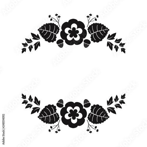 floral cut out files, custom vinyl decals, simple floral cut
