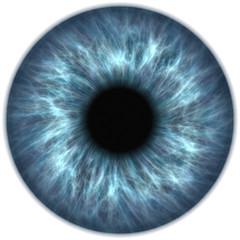 Foto op Aluminium Iris blue eye iris pupil