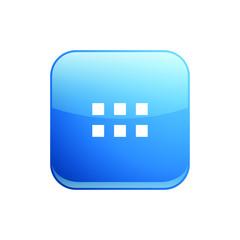 Modern Apps 6 Grid Menu Icon Button Logo
