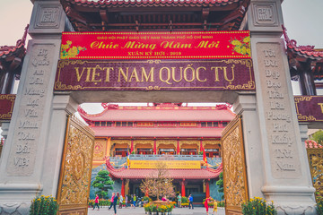 Quoc Tu pagoda is a famous pagoda in Ho Chi Minh city.